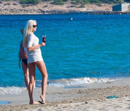 Famosos en las calas de Ibiza