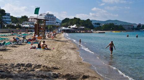 Playa de Es Pouet en Ibiza